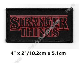 """Wholesale Friends Tv Series - 4"""" Stranger Things Inspired Patches TV Movie Film Series Costume Embroidered iron on Costume Cosplay Friends Don't Lie badge gift"""