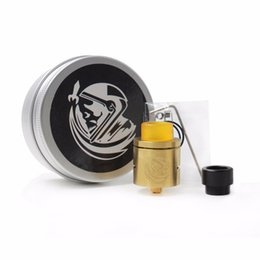 Wholesale Electronic Cigarette Plate - COSMONAUT CSMNT RDA Atomizer Clone Rebuildable Dripping 24K Gold plated deck 24mm lead inserts Vaporizer Electronic Cigarettes