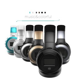 Wholesale Wireless Earphones For Radio - B19 LCD Display HiFi bass Wireless Bluetooth Headphone for iPhone 7 samung xiaomi earphone With FM Radio Micro-SD Slot 2017 new