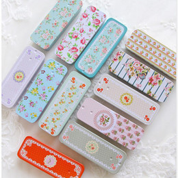 Wholesale Wholesale Accessories Japan - 48pcs lot Rectangular Slide Cover Mini Iron Box Candy Coin Storage Box Wedding Jewelry Pill Cases Portable Tea Tin Boxes Container