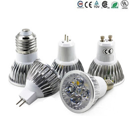 Wholesale High Power Cree Led Light Bulbs E27 B22 MR16 W W W Dimmable E14 GU5 GU10 Led Spot lights led downlight lamps