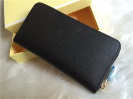 Wholesale Women Wallet Coin Pocket - AAA woman ladies MICHAEL KALLY high quality famous brand long single zipper Genuine Leather wallet Cross pattern 008 purse with box card