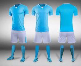 Conjuntos de camisetas de fútbol de descuento online-Descuentos en juegos de camisetas de fútbol personalizados, venta al por mayor Tops con pantalones cortos, pantalones cortos de entrenamiento, camisetas de equipo personalizadas, Dropshipping aceptado