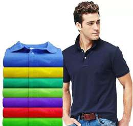 Wholesale Tee Shirt Crocodile - 18men polos brand summer crocodile embroidery Polo Shirt Men Short Sleeve Casual Shirts Man's Solid Polo Shirt Plus 6XL men tees Camisa Polo