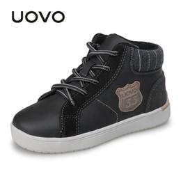 ddcd89ed1f UOVO 2019 nuevo otoño invierno zapatos para caminar moda niños zapatos  casuales niños zapatillas de deporte cálido y cómodo para niños Eur28 # -37  #