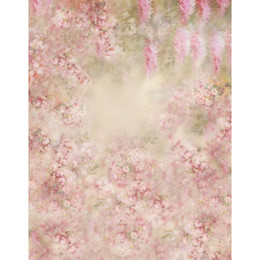 Wholesale Flower Fantasy - 5x7ft Pink Flowers Newborn Baby Photography Backdrop Kids Birthday Fantasy Floral Background Studio Photo Booth Prop