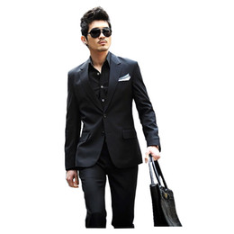 Wholesale Cheap Branded Jackets For Men - Wholesale- (Jacket+Pants) Factory Direct Cheap 2016 New Formal Wedding Men Suits Fashion Casual Brand Terno Masculino Blazer Suits For Men