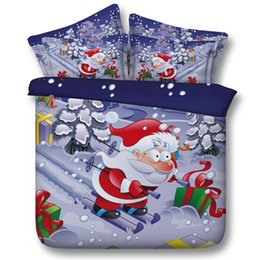 Wholesale Kids Christmas Bedding Sets - Kids Christmas 3D Bedding Sets 100% Cotton Comforter Queen King Size Quilt Duvet Cover Bedspreads Bed Sheets Super King Twin Double Bedding