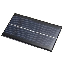 Wholesale Cell Phones Solar Panels - Mini 6V 1W Solar Panels Bank Solar Power Panel Solar energy System Module For Light Battery Phone Toy Chargers Portable