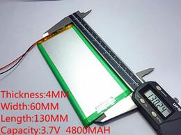 li 3.7v tablet Скидка 3.7 в 4800 мАч (полимерный литий-ионный аккумулятор) литий-ионный аккумулятор для планшетных ПК 7 дюймов 8 дюймов 9 дюймов 4060130 Бесплатная доставка