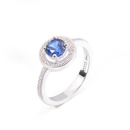 Wholesale Cheap Pink Engagement Rings - pink green blue white zirconia zircon rings wholesale fashion silver plated rings round cheap OEM VINTAGE luxury women rings