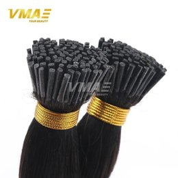 Wholesale Extensions Pre Bonded Tip - 1g  strand 100g Brazilian I-tip Human Pre-bonded Hair Extensions Virgin Remy Human Hair Brazilian Straight Keratin Hair Extensions