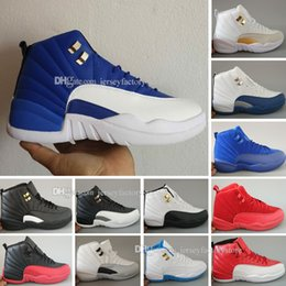 Wholesale Embroidered Top Women - Top 12 XII Basketball Shoes Sneakers Men Women Taxi Playoffs Replicas Gamma White Gray 12s Shoes Sports trainers Shoes 36-47
