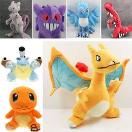 2019 mario koopa garoto Plush Doll Toys Charizard Charmander Dragonite Gengar Mewtwo Lugia Blastoise Animal dos desenhos animados Brinquedos filhos adultos Brinquedos do Xmas presentes HH-T44