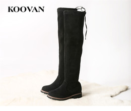 Wholesale Kids Fashion Boots Cheap - Cheap Koovan New Kids Shoes 2017 High Boots Free Shipping Spring Autumn Winter High Quality Big Children Shoes Knee Boots K005