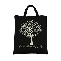 Wholesale Global Selling - Global Hot Selling Pure Cotton Handbag Tote Bag Shopping bags With Cute Music Tree