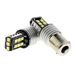Wholesale P21w Led White Canbus - 10pcs 1156 1157 Ba15s P21w Car LED Bulb No Error Reverse Canbus Bulb 15SMD Chips Auto LED Back Up Reversing Lamp Bulbs (2pcs Lot)