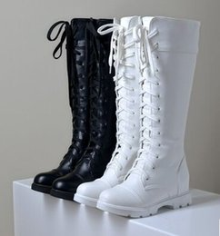 Wholesale sexy cloth sales - New Arrival Hot Sale Specials Super Fashion Influx Martin Roman Warm Sexy Show Retro Lace Up Large Size Knight Casual Boots EU34-43