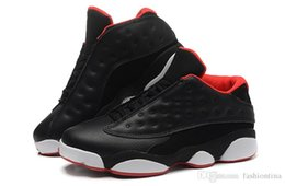 Wholesale Winter Footwear For Men - Sport Sneakers Air Retro 13 Low Bred Black White Red Men's Basketball Shoes Sports 13 Sports Footwear For Men Size 8-13