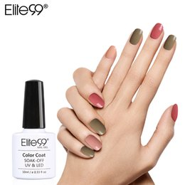 Wholesale Grey Nail Polish - Wholesale- Elite99 10ml 6pcs Nude Pink Red Blue Grey Purple UV Gel Lovely Set For Nails Kit UV Builder Nail Gel Polish Hot Colors Series