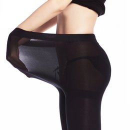 Wholesale Plus Size Thick Tights - Wholesale- Large Size Super Elastic Pants Women tights for Girls Slim Warm Winter Velvet Thick Black sexy xxxl plus size Compression tight