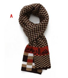 Wholesale Scarf Ring Cashmere Knit - 2017 new scarf. Men's scarf. Plaid scarves. Imitation cashmere scarf. Stitching knitted scarf. Winter. Casual fashion scarf. Long. Keep warm