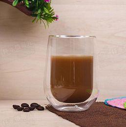 Wholesale Double Wall Glass Cup Milk - Heat Resistance Double Wall Glass Cup Double Layer Glass Coffee Milk Juice Healthy Drink Mug Mini Teapot