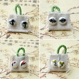 Wholesale Studs For Cloths - Fashion cartoon Hand Painted ceramic bead with cloth kawaii stud earrings for girl ethnic style ceramic earrings jewelry gift wholesaleJ1172