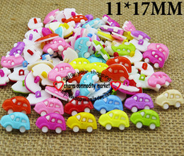 Wholesale Mixed Kids Clothes - 100PCS mixed car shirt plastic button for KIDS clothes fits jewelry charms P-078