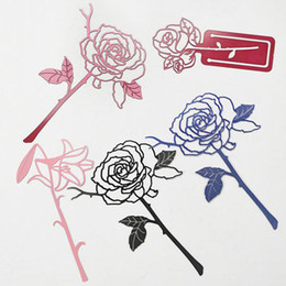 Wholesale Red Wedding Guest Book - Lovely Metal Rose Style Bookmark Book Marks Label Wedding Baby Shower Gift Present For Guest Free Shipping ZA4332