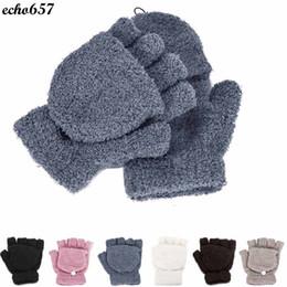 guantes de encaje blanco dedos largos Rebajas Al por mayor- Echo657 Niñas Mujeres Señoras Mano Calentador de muñeca Guantes sin dedos de invierno Mitten Oct 21