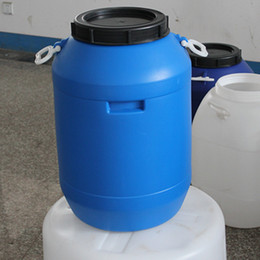 Wholesale Cosmetics Material - 50 liter plastic wide mouth Drums Open-Top Plastic Drum