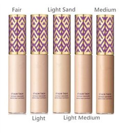 Wholesale Foundation Sand - Newest Shape Tape contour Concealer 5 colors Fair Light Light Medium Light Sand Medium Liquid foundation Face concealer Cream Free Shipping