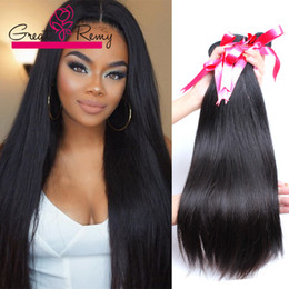 Wholesale Indian Virgin Straight 3pcs - 3pcs lot UNPROCESSED Virgin Braziilan Hair Weave Straight Hair Extensions 7A Peruvian Malaysian Indian brazilian Hair Bundles TOP SELLING