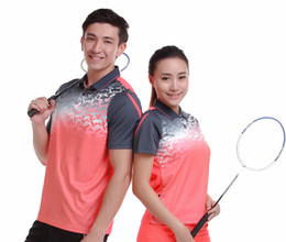 Wholesale Clothing Sportswear Shorts - Sportswear sweat Quick Dry breathable badminton shirt , Women Men table tennis clothes running training Exercise POLO T Shirts