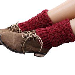 Wholesale Trendy Fashion Legging Wholesale - Wholesale- Stylish New Boot Crochet Knit Boot Trendy Fashion Leg Warmers Socks foot warmer