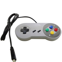 Wholesale Wireless Snes - Wholesale- New Retro Classic USB Controller PC Controllers Joypad Joystick Replacement for SNES Windows MAC Wholesale