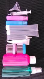 Al por mayor-Travel Set Plastic Cosmetic Packaging, Travel Kit, Plastic Bottle Tubo de plástico y tarro de crema para el paquete cosmético desde fabricantes