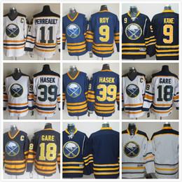 Wholesale Linen Shirts Men Cheap - Buffalo Sabres #15 Eichel Hockey Jersey Embroidered Men Hockey Jerseys Navy Blue Wears Best Cheap Hockey Jersey Popular Shirts