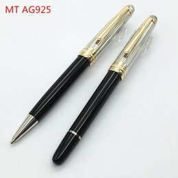 Wholesale Roller Metal - Top Quality Luxury Germany MB Pen AG925 Roller Pen Ballpoint Pen Gold Clip good price for school and gifts
