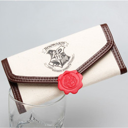 Wholesale Card Holder Cheap - Harry Potter Hogwarts Letter Flap Wallet Cheap wallets High Quality wallet with Interior Compartment Zipper Poucht