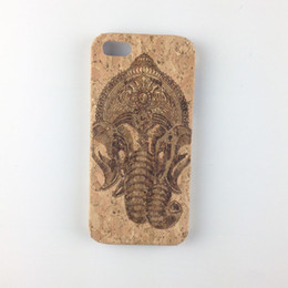 Wholesale Wood Cork Case - U&I ®Cork Wood Cell Phone Case for Apple IPhone Spiritual Animal Africa wooden cell phone cases Protector Case