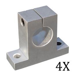 Wholesale Slide Cnc - Wholesale- 4PCS SK12 SH12A 12mm Linear Rail Shaft Support Block for Cnc Linear Slide Bearing Guide Cnc Parts CLH