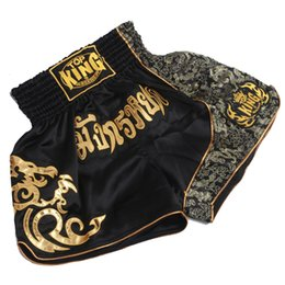 Wholesale Training Boxeo - MMA Training Short Man's Thai Boxing Shorts Muay Thai Boxeo Shorts Mma Fight Trunks Sports Trunks sport shorts