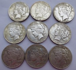 Wholesale Nice Pcs - 1922-S-1935-S Peace Dollars (9 PCS Copy Coins) Promotion Cheap Factory Price nice home Accessories Silver Coins