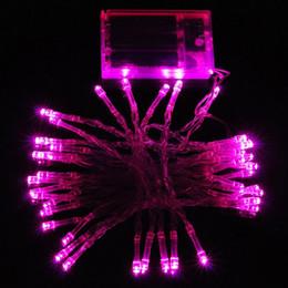 gran bola de luces de navidad Rebajas 4M 40 LED Funciona con pilas Boda de Navidad a prueba de agua Luces de cadena de hadas Encendido / destello / apagado constante 3 Modo 9 Opciones de color
