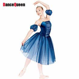 Wholesale Dance Tutus For Adults - 2017 New Ballet Dress For Children Adult Professional Ballet Tutu Girls Lady Performance Dance Costumes Blue Ballet Skirt DQ9008