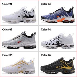Wholesale Mens Discounted Tennis Sneakers - Discount Top Quality Men's Running Shoes Mens Air Sports Plus TN Ultra Shoes Trainers Sneakers Black White Jogging Tennis Athletic Shoes