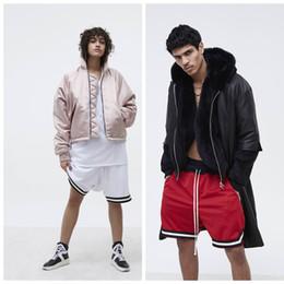 Wholesale Mesh Basketball Shorts - 2017 Hot Sale Summer Sports pants  hamster pants Mesh breathable basketball Men casual shorts Elastic Waist   red black white size M-XL