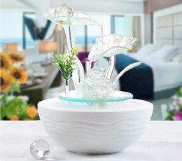 Wholesale Indoor Plants Decoration - Indoor Water Fountain With Led Lights Coast Tiered Rock Bowl Fountain Beautiful Arts and Crafts RM02